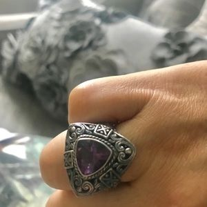 925 Sterling Silver Indonesia Ring Size 7